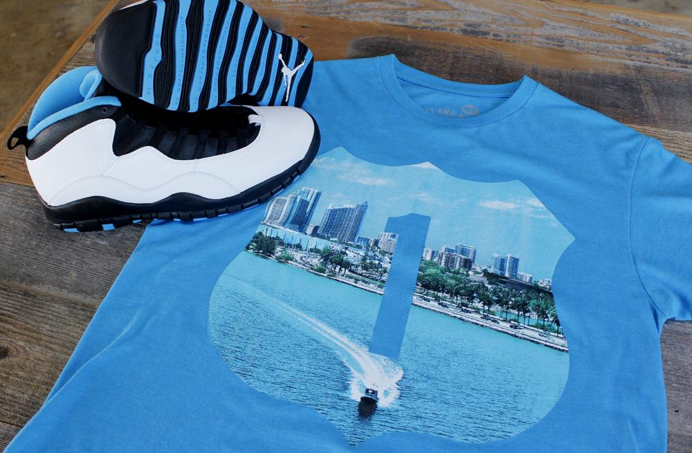 powder blue jordan 10 shirt 2