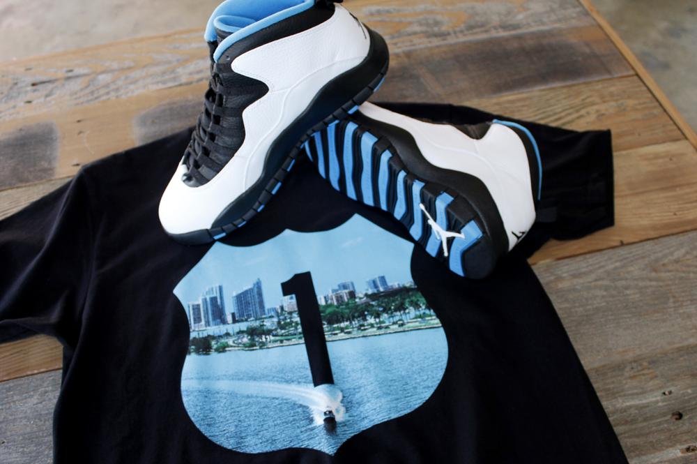 powder blue jordan 10 shirt 3