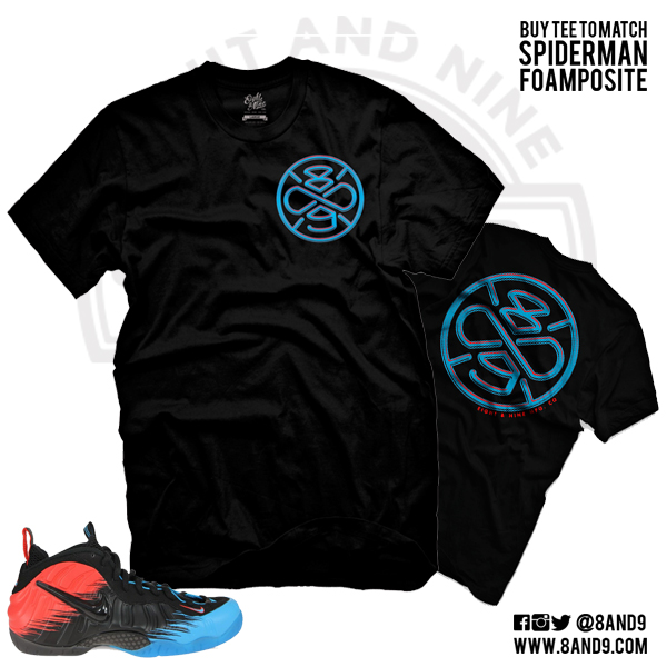 spiderman foamposite shirt