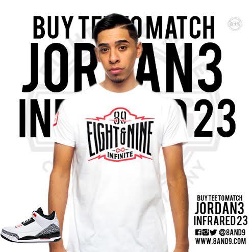 jordan 3 infrared 23 shirt 3
