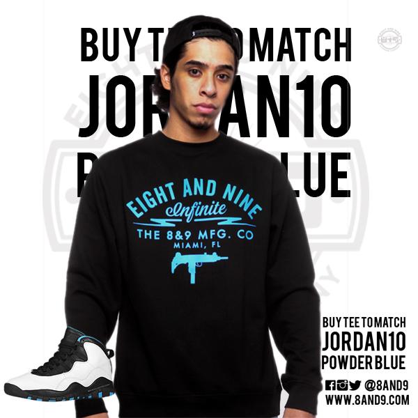 shirt to match jordan powder blue 10
