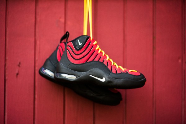Nike takes us back to 1997 to revisit legendary Miami point guard Tim  Hardaways signature sneaker The Air Bakin.The OG varsity red/orange blaze  version of ...