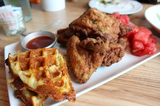 Miami Food - Yard Bird Chicken and Waffles (8and9 Clothing Blog)