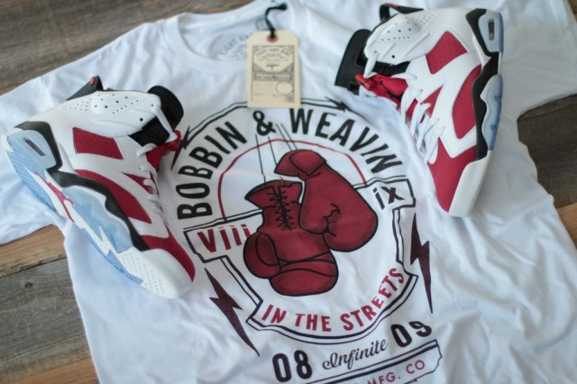 shirts to match jordan carmine 6 7
