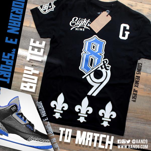 shirt to match jordan 3 sport blue 1