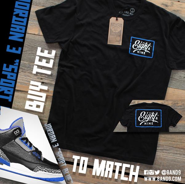 shirt to match jordan 3 sport blue 2