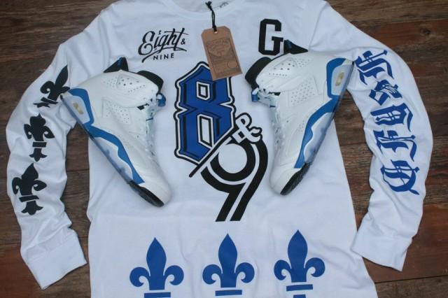 jordan 6 sport blue shirt 1