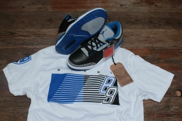 sport blue jordan 3 shirt 1