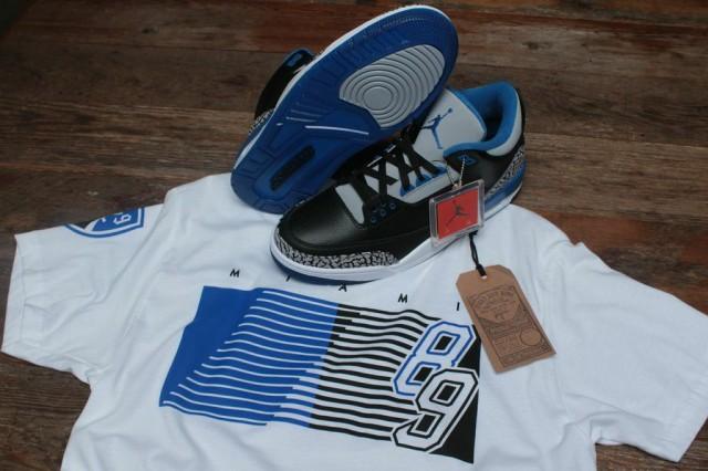 sport blue jordan 3 shirt 3