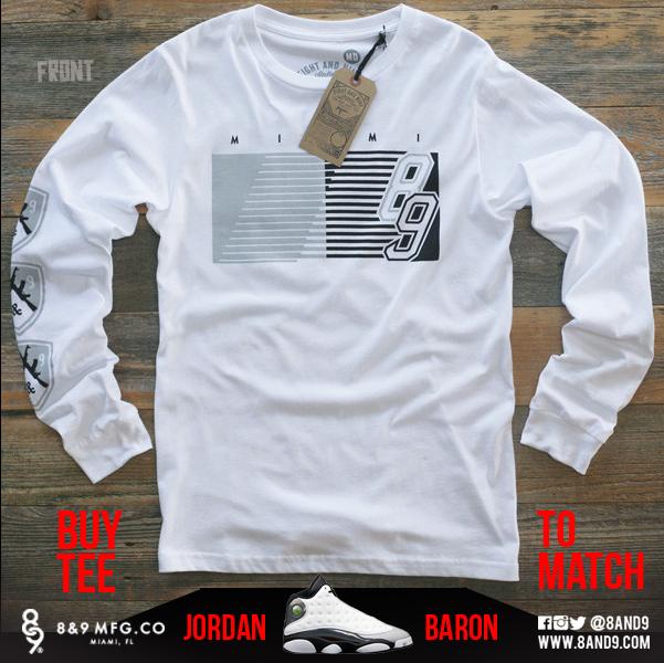 jordan 13 barons shirts 1