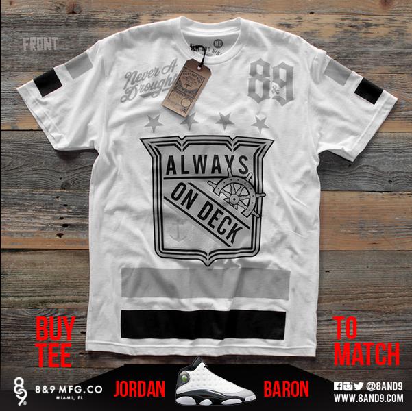 jordan 13 barons shirts 3