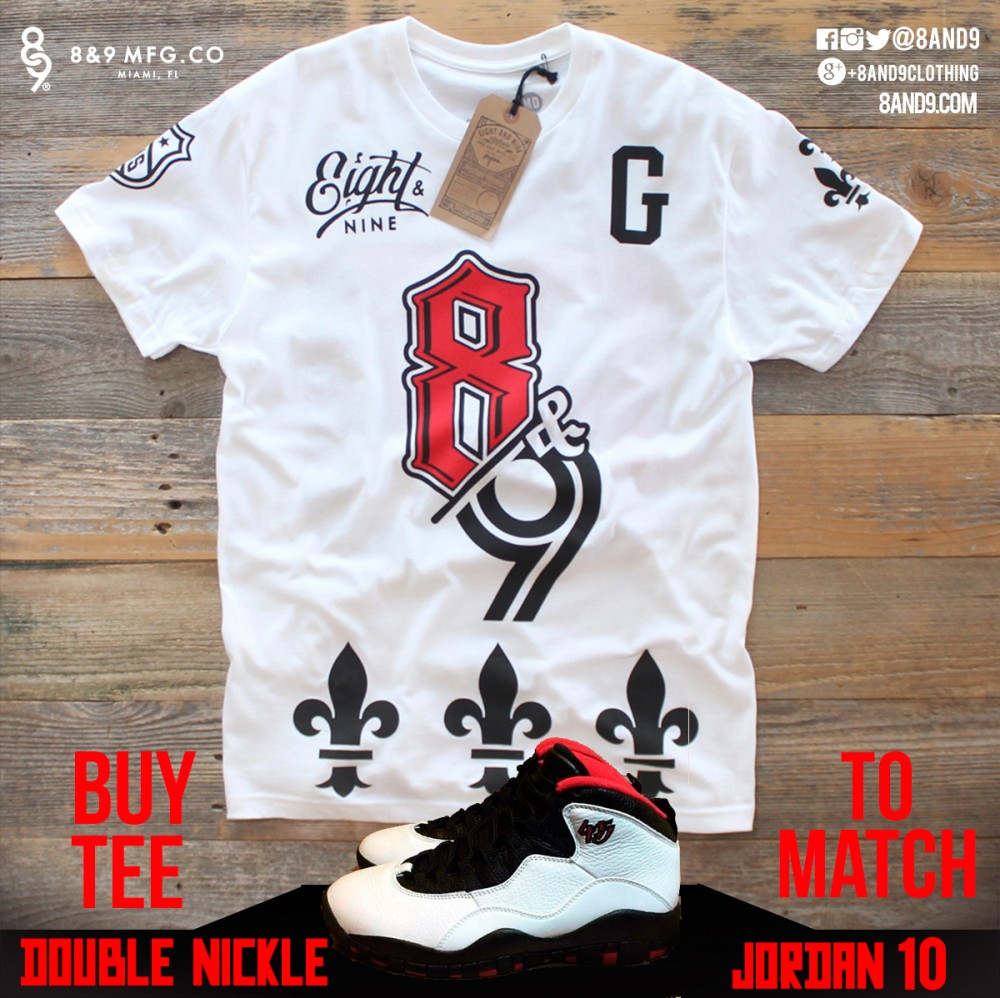 jordan 10 double nickel shirts goons remix
