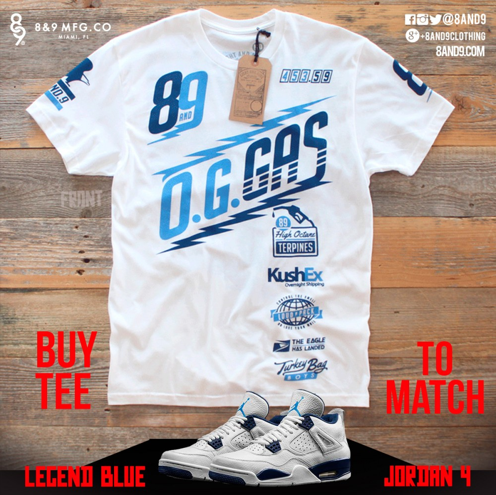 new arrival 2d957 5b894 Jordan 4 Legend Blue Shirts | 8&9 Clothing Co.