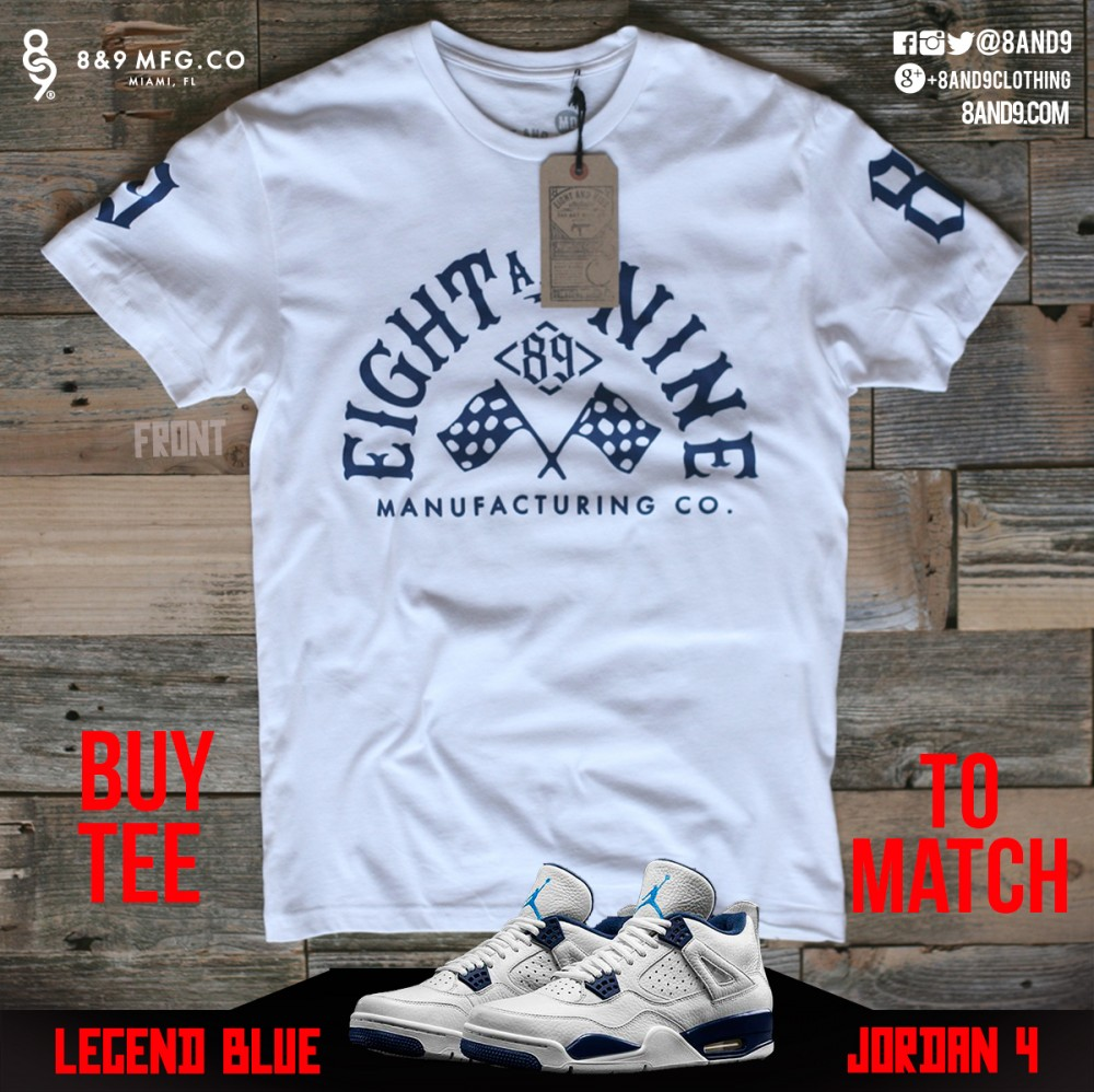 jordan 4 legend blue shirts 4