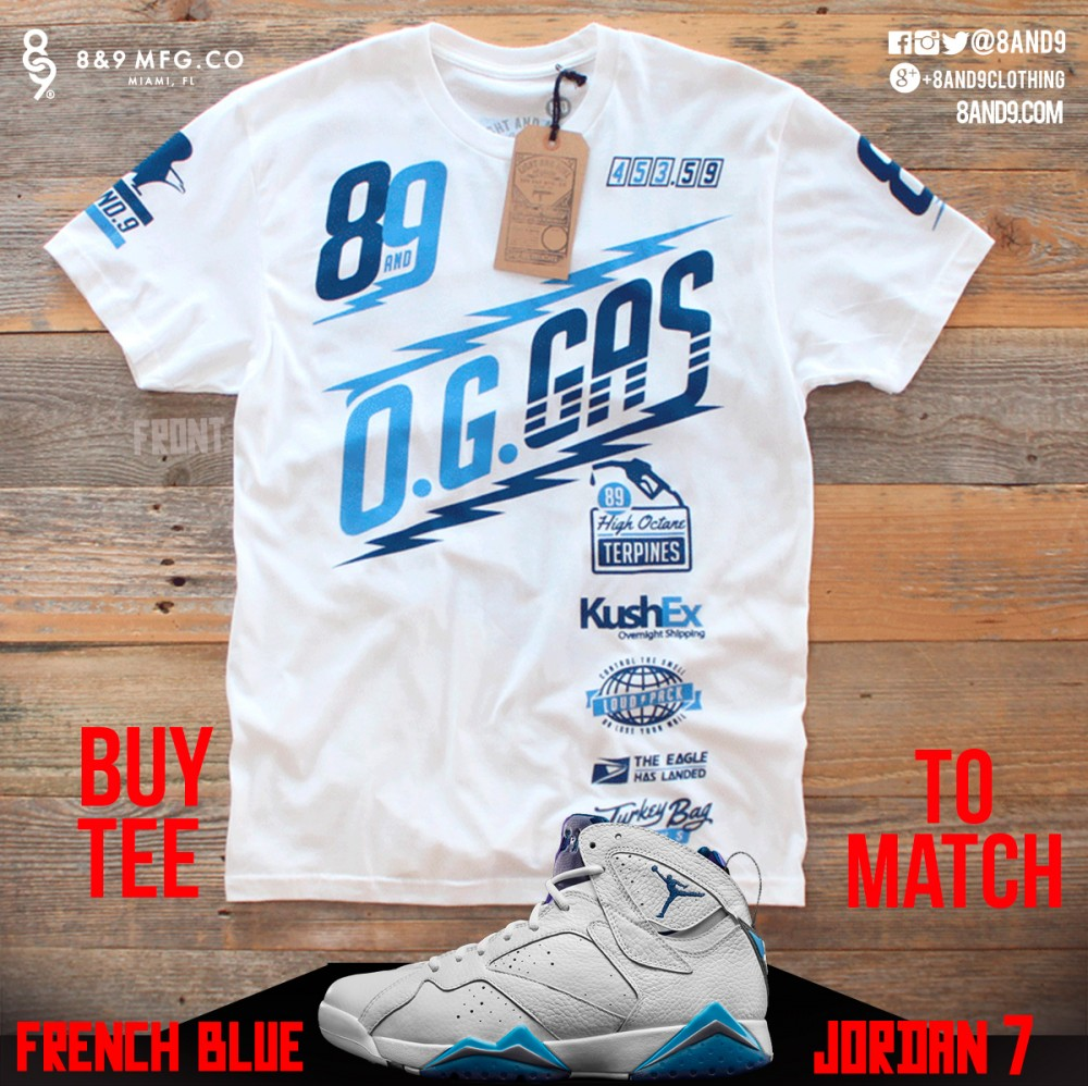 jordan 7 french blue shirt 1