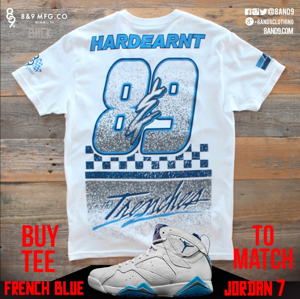 jordan 7 french blue shirt 5