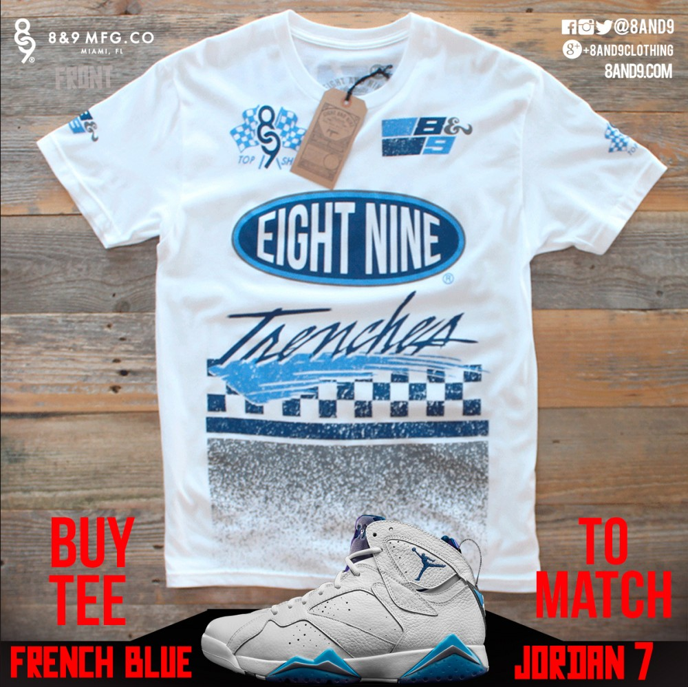 jordan 7 french blue shirt 6
