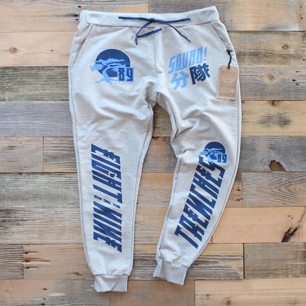 bonzai tree sweat pants match jordan 7 french blue 1